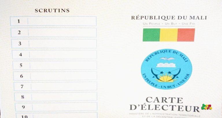 carte_ delecteur_république_du_Mali