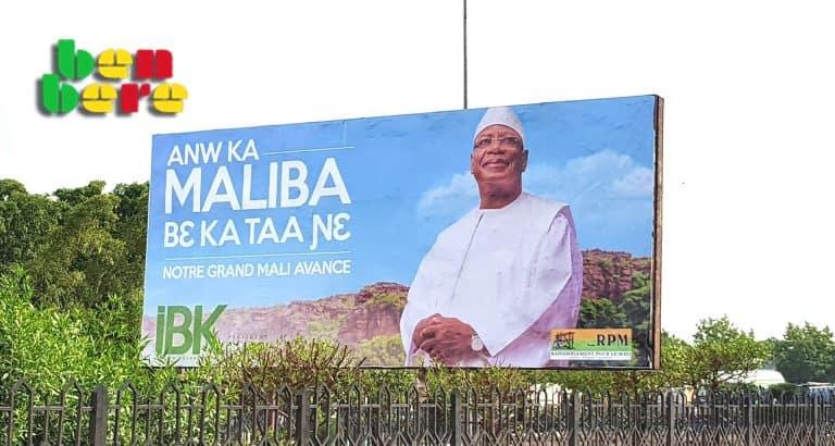 slogans vides de sens affiche_publicitaire_campagne_presidentielle_Bamako_Mali