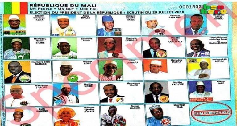 24 candidats seul president specimen election presiedentielle Bamako Mali Benbere4