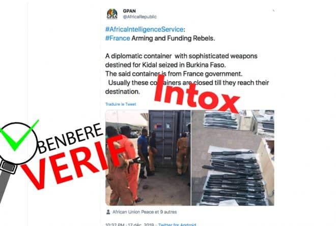 #BenbereVérif : ces photos d'une prétendue livraison d'armes n'ont pas été prises au Mali