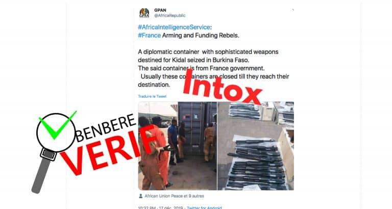 #BenbereVérif : ces photos d' une prétendue livraison d'armes n'ont pas été prises au Mali