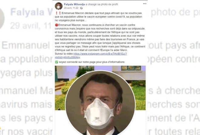 #BenbereVérif : ces propos sur un vaccin contre le Covid-19 ne sont pas d'Emmanuel Macron