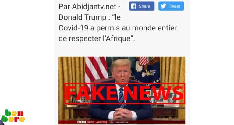 #BenbereVerif - Covid-19 : Non, les États-Unis n'ont pas lancé de commande du remède malgache