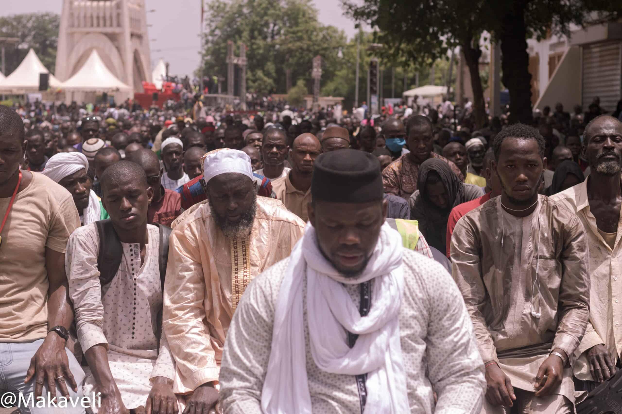En images : à Bamako, à la manif du 5 juin