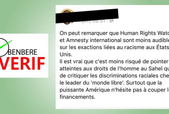 #BenbereVerif : les ONG de défense des droits de l'homme ont bel et bien condamné la mort de George Floyd