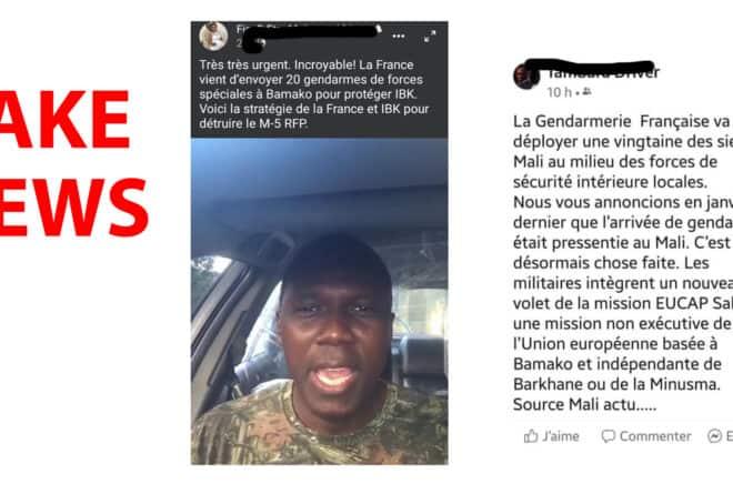 #BenbereVerif : les 20 gendarmes français seront déployés en région et non à Bamako