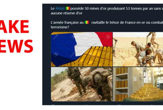 #BenbereVerif : non, ces images ne montrent pas des soldats français « pillant l'or » du Mali