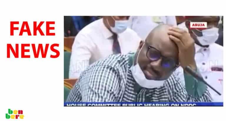 #BenbereVerif : le ministre nigérian de la Santé n'a pas fait un AVC lors d'une interpellation au parlement