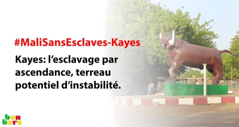 #MaliSansEsclaves-Kayes : l'esclavage par ascendance, terreau potentiel d'instabilité
