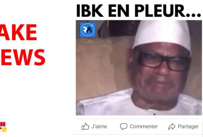 #BenbereVerif : Non, le président « IBK » n'a pas pleuré « sous la pression de la population malienne »