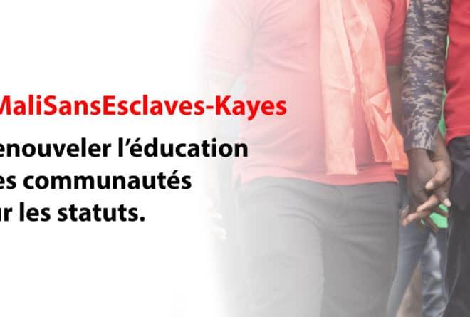 #MaliSansEsclaves : renouveler l'éducation des communautés sur les statuts