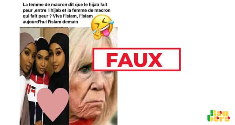 #BenbereVerif : ces propos sur le voile ne sont pas de Brigitte Macron