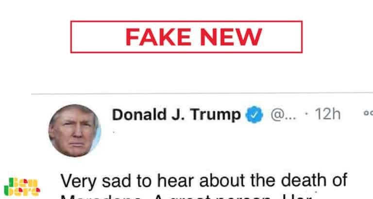 #BenbereVerif: attention à ce faux tweet attribué à Donald Trump