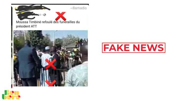#BenbereVerif : Moussa Timbiné n'a pas été refoulé des funérailles d'ATT