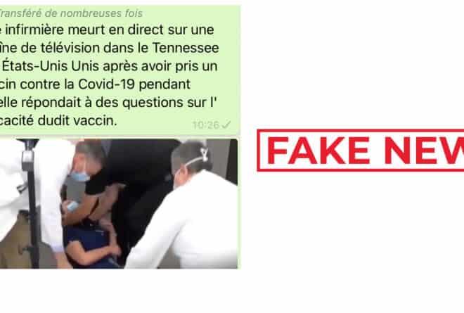 #BenbereVerif : cette infirmière américaine n'est pas morte après avoir reçu un vaccin anti-Covid