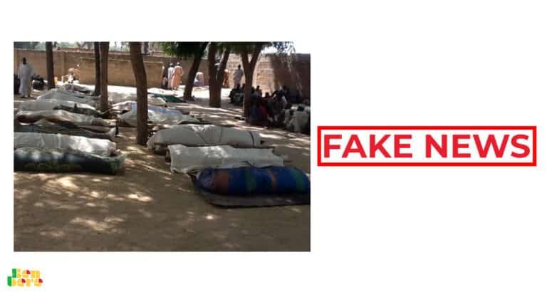 #BenbereVerif : Non, cette photo ne montre pas les victimes de Bounti