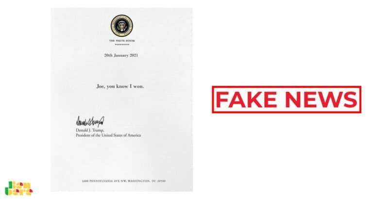 #Benbereverif: non, cette lettre n'est pas de Donald Trump