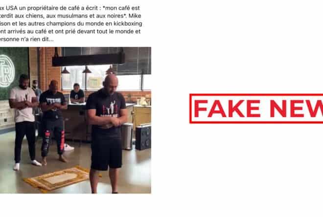 #BenbereVerif : non, cette vidéo ne montre pas Mike Tyson en train de prier dans un café interdit aux musulmans