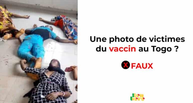 #BenbereVerif : cette photo présentée comme celle des victimes du vaccin au Togo date de 2020