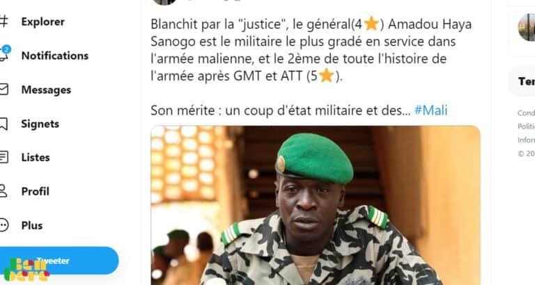 Twittoscopie : une vague d'indignation après l'abandon des poursuites contre Amadou Haya Sanogo