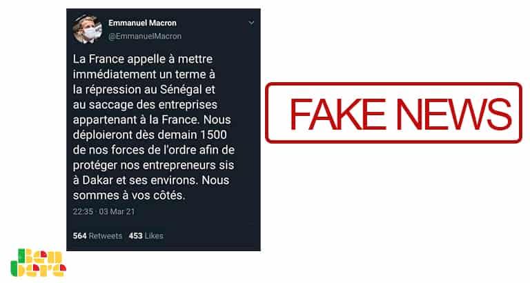 #BenbereVerif–Sénégal: Macron n'a pas menacé de déployer 1 500 militaires français à Dakar