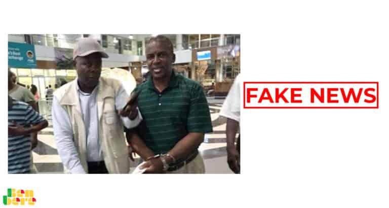 #BenbereVerif : cette vidéo ne montre pas l'arrestation du ministre Boswanais de l'Intérieur à l'aéroport pour corruption