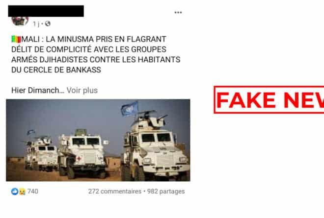 #BenbereVerif : pas de preuve liant la Minusma aux activités des groupes « terroristes » dans le centre du Mali