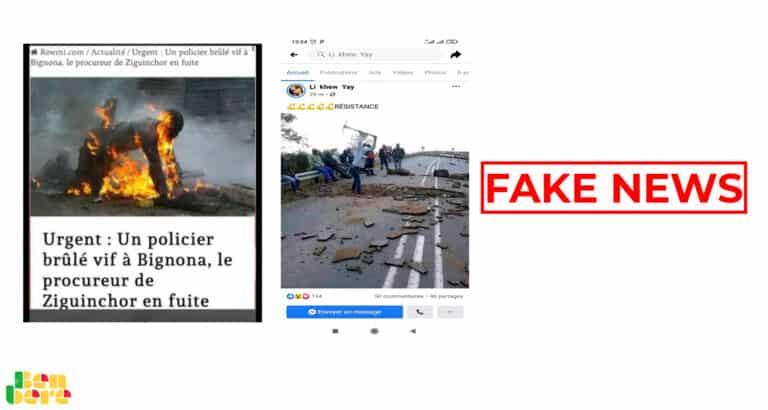 #BenbereVerif : ces photos n'ont rien à voir avec les manifestations au Sénégal