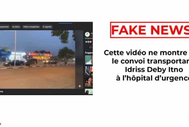 #BenbereVérif : cette vidéo ne montre pas le convoi transportant Idriss Deby Itno à l'hôpital d'urgence