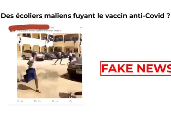 #BenbereVerif : des écoliers maliens fuyant le vaccin anti-Covid ? Faux !