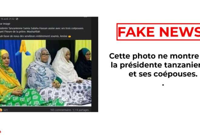 #BenbereVérif : cette photo ne montre pas la présidente tanzanienne et ses coépouses