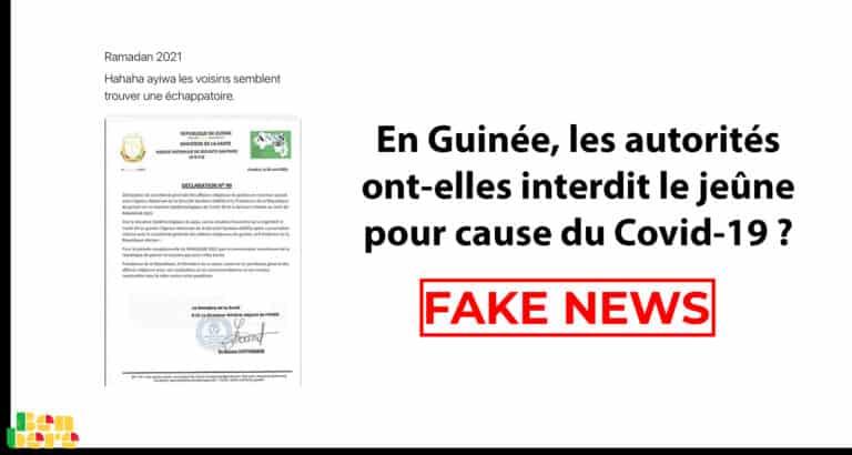 #BenbereVerif- En Guinée, les autorités ont-elles interdit le jeûne pour cause de Covid-19 ? Faux