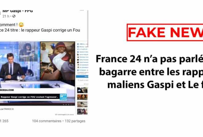 #BenbereVerif : France 24 n'a pas parlé de la bagarre entre les rappeurs maliens Gaspi et Le fou