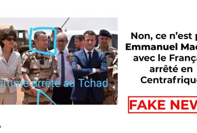 #BenbereVerif : non, ce n'est pas Emmanuel Macron avec le Français arrêté en Centrafrique