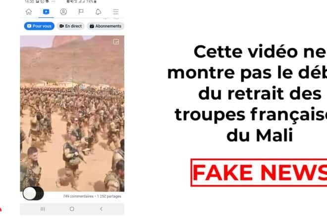 #BenbereVerif : cette vidéo ne montre pas le début du retrait des troupes françaises du Mali