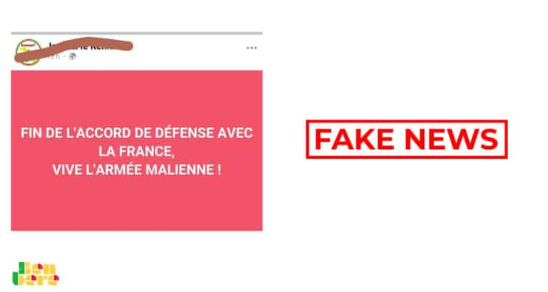 #BenbereVerif : la France n'a pas annoncé la fin de sa coopération de défense avec les FAMa