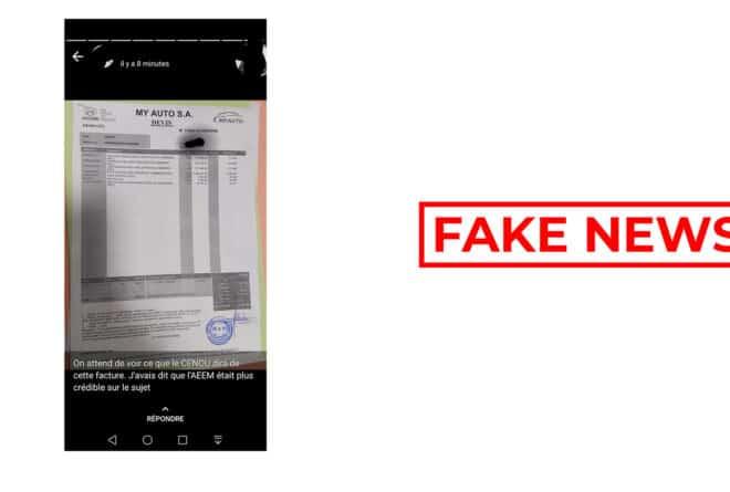 #BenbereVerif : non, cette photo ne montre pas la facture du Cnou