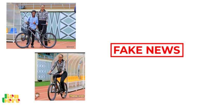 #BenbereVerif : cette photo ne montre pas la ministre rwandaise des Sports allant au travail à vélo